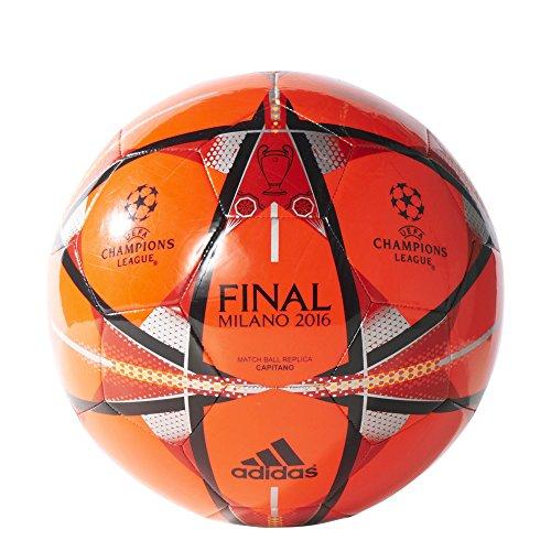 Adidas AC5490, Pallone da Calcio Uomo, (Rosso/Nero), 5