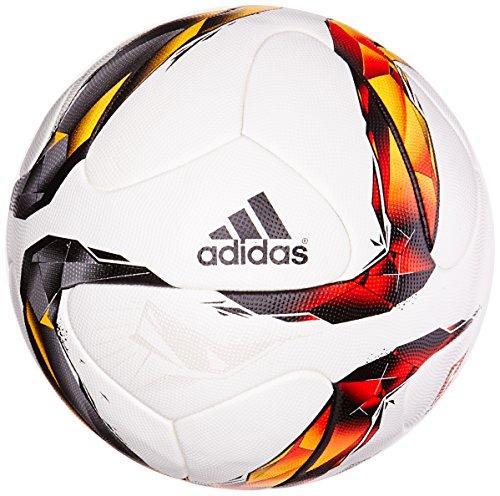 Adidas – Pallone da calcio Bundesliga 2015/2016 Bianco-Solar Rosso-Nero – 5