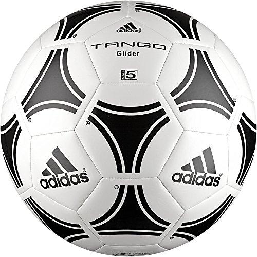 Adidas Tango Glider, Palla Uomo, Bianco/Nero, 5