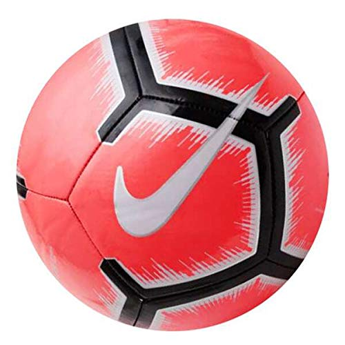 Nike Pitch Pallone da Calcio, Unisex, SC3316-671, Bright Crimson/Pure Platinum/Black, n 5