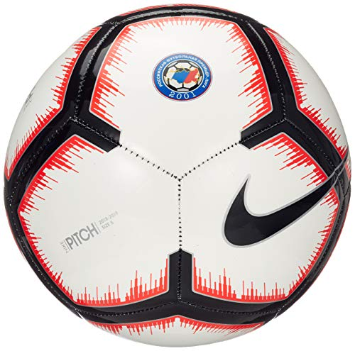 Nike Russian Premier League Pitch – Pallone da calcio, colore: Bianco/Crimson/Nero, 5